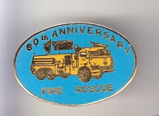 RARE PINS PIN'S .. POMPIER FIRE CAMION TRUCK YVP 60 ANS USA CANADA ~CC