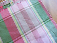 Decorator Fabric - Woven Plaid - 1.5yds. -  Upholstery - Pillows - Pink - Green