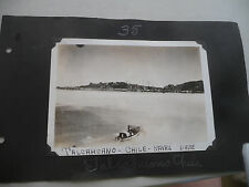 LOT OF 2 VINTAGE REAL PHOTOS CHILE TALCAHUANO NAVAL BASE PORT OF IQUIQUE