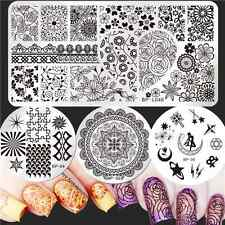 Born Pretty Nail Art Stamp Plates Arabesque Moon Design Manicure Templates DIY