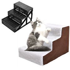 Pet Stairs 3 Steps Ladder Indoor Portable Cat Dog Ramp Ladder with Cover