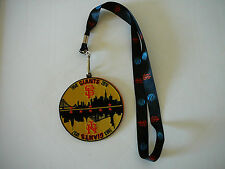 SAN FRANCISCO SF GIANTS 1958-2016 NY GIANTS1883-1957 EMBROIDERED PATCH & LANYARD
