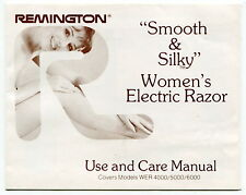 "Vintage REMINGTON Owners Manual - ""Women's Electric Razor"" For: 4000/5000/6000"