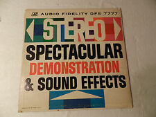 Stereo Spectacular Demonstration & Sound Effects 1962 Audio Fidelity LP