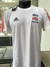 adidas Men's GB Cycling Team Sky Pro Rider Issue White T-Shirt Tee M EU 6 40/42""