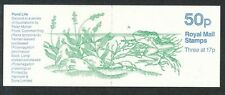 FB33a Nov 1985 Common Frog (pond life) No Star 50p Folded Booklet - good perfs