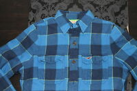 HOLLISTER Mens Flannel Jacket Shirt Blue Green Size S, M or L new with tag