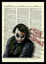 The Joker Heath Ledger Dictionary Art Poster Picture The Dark Knight Batman
