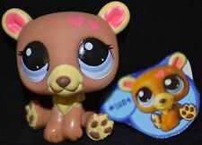 NEW Littlest Pet Shop VALENTINES ✿ LPS Brown BEAR ✿ Blue 1854 Hearts ✿ 2010 Gift