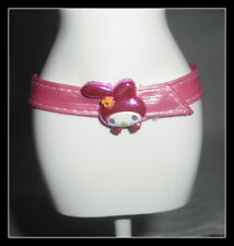 BELT  BARBIE DOLL MY MELODY SANRIO PINK PLASTIC BUNNY BUCKLE CLOTHING ACCESSORY