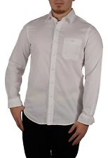 Club Room Men's Size Small Bright White Long Sleeve Button Down Slim Fit Top