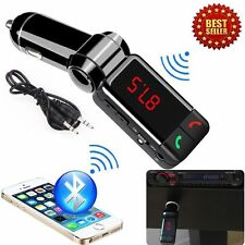 BLUETOOTH CAR KIT MP3 FM TRANSMITTER SD USB Ladegerät HANDSFREE FOR IPHONE