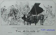 PUBLICITE THE AEOLIAN DUO ART PIANO ART DECO SIGNE POUCHER DE 1925 FRENCH AD PUB