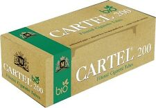 CARTEL  Bio 200 Unbleached Cigarette Tubes Natural Cellulose