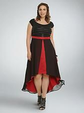 NWT Torrid Star Wars Kylo Ren Sexy Goth Red & Black Semi Formal Dress 24W 3X