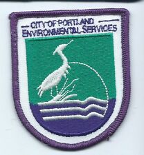 Portland OR city of Environmental Services employee patch 3 X 2-1/2 #673