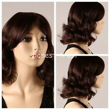 Girl Tilted Frisette Hair Curly Hair Wigs Vogue Cool Short Women's Wig+ Free Cap