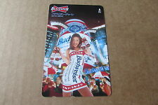 BUDWEISER BEER SEXY YUMIKO NERIKI LADY ON USED PHONECARD FROM JAPAN
