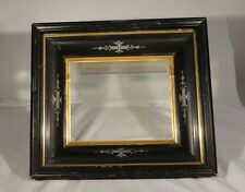 Antique Victorian Aesthetic Movement Picture Frame Ebony Carved Deep 8x10