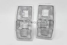 Ford Fiesta MK2 83-89 Clear Rear Tail Lights Lamps Set Pair Left Right