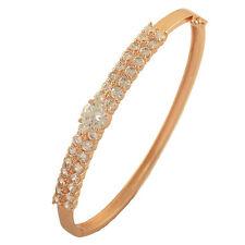 Fashion Girls Wrist Lot Crystal 14K Rose Gold Filled Ladies Cuff Bangle Bracelet