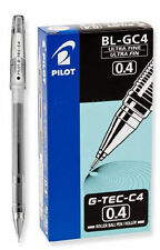 12 PILOT G-TEC -C4 0.4 BLACK BALLPOINT PENS ULTRA FINE PT PENS NEW IN BOX
