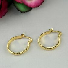 E11 Small 18K Yellow Gold Filled 2cm Ladies Creole Hoop Earrings