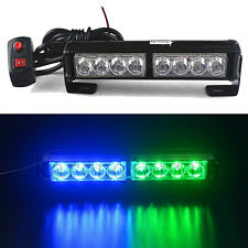 8LED Strobe Light Bar Emergency Hazard Dash Security Warning Flashing Blue Green