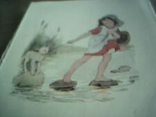 vintage book plate margaret w tarrant mary had a little lamb