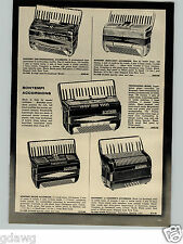 1956 PAPER AD Bontempi Accordion Professional Pro Model Argus Camera US Made