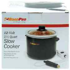 New RoadPro 12V 1.5 Quart Slow Cooker For Camping Roadside Dining Cook Stew Soup