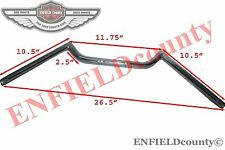 UNIVERSAL FIT CHROME 7/8''FLAT BAR HANDLEBAR UNIT FOR CAFE RACER MOTORCYCLES @CA