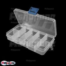 Portable Storage Box 10 Compartment Plastic Tool Case
