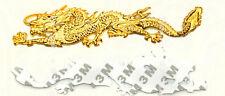Coche Metal Insignia Emblema Pegatina Dragon 3D Logo Oro Nuevo