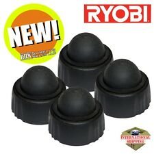 4 Pack Ryobi 300890001 Oil Tank Cover / Cap with Bulb Assembly for Chainsaw