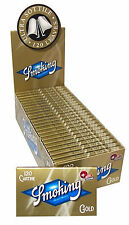 Cartine SMOKING ORO CORTE DOPPIE Gold scatola 25 pz