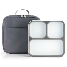 Bento Lunch Box - 3 Portion Control Leak Proof Compartments w/Matching bag
