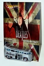 HOT WHEELS CUSTOMS 2017 VW T1 DRAG BUS THE BEATLES TRIBUTE EDITION