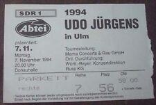 1 UDO JÜRGENS Ticket Stub 1994 rare rar Concert Konzert Eintrittskarte selten