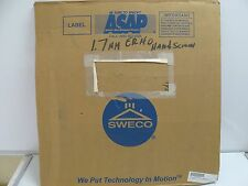 NEW SWECO 24A8A012U SIEVE SCREEN 24 INCH NUMBER 12 SCREEN CENTER HOLE