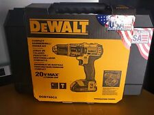 NEW DEWALT DCD785C2 20V Li-Ion Hammer Drill w/ 2 DCB201 1.5 AH Battery & DC