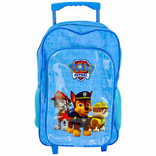 CHILDRENS LARGE PREMIUM BLUE PAW PATROL TROLLEY BAG - BACKPACK -  SUITCASE NEW