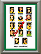 WOLVES - 1975-76 - REPRO STICKERS A3 POSTER PRINT