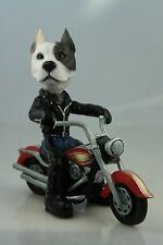 PIT BULL BRINDLE   ON A   MOTORCYCLE SEE ALL BREEDS & BODIES @ EBAY STORE