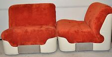 2 Sessel Lack Easy Chair Relax Space Age Design Mid Century Colani-Ära 70er