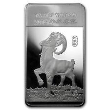 10 oz APMEX Year of the Ram Silver Bar - SKU #83114