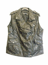 LADIES FAUX LEATHER VEST BY BERNARDO in BLACK COLOUR SIZE L (D-128)