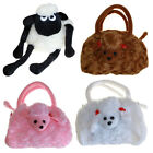 G03 Girls Fun Bags Soft Plush Dog & Sheep Bag - Shoulder or Backpack Straps