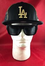 New Era 59Fifty MLB LA Dodgers Fitted Hat Black & Gold Money Hat