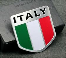 Metal Auto Racing Sports Emblem Badge Decal Sticker For IT Italy Italian Flag